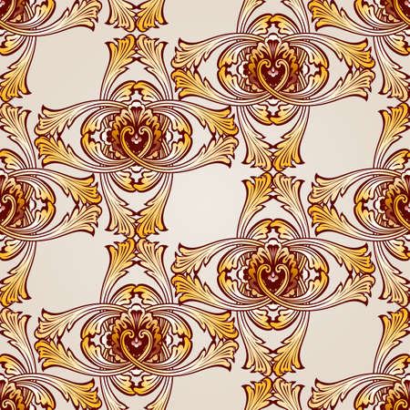 Seamless abstract floral pattern in the form of cross vines Illustration
