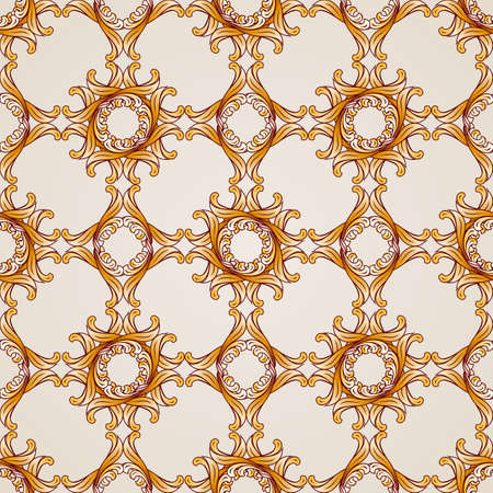 Seamless abstract floral pattern in the form of frameworks Illustration
