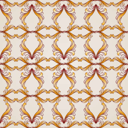 Seamless abstract floral pattern in the form of ornate vines Illustration