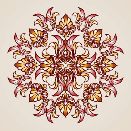 beautifull: Abstract floral pattern element in the form of beautifull  flower Illustration