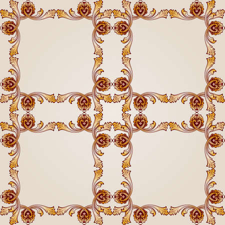 Seamless abstract floral pattern in the form of ornate mesh