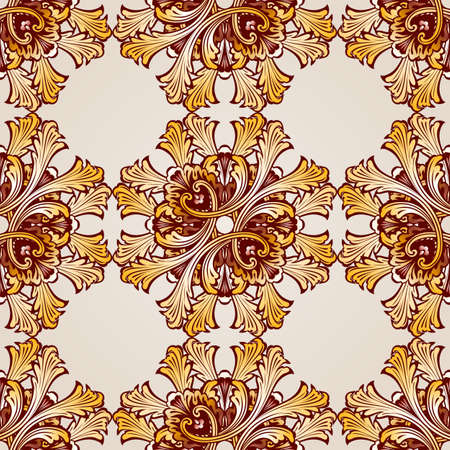 Seamless abstract floral pattern in the form of saturated mesh Illustration