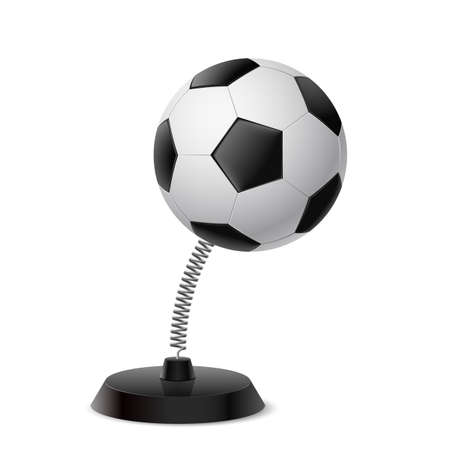 glister: Table souvenir in form of football ball on spring