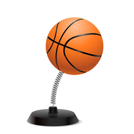 international basketball: Table souvenir in form of ball for basketball on spring