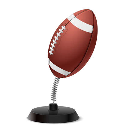 rugger: Table souvenir in form of ball for American football on spring