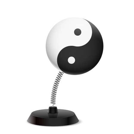 Table souvenir in form of Yin Yang symbol on spring Illustration