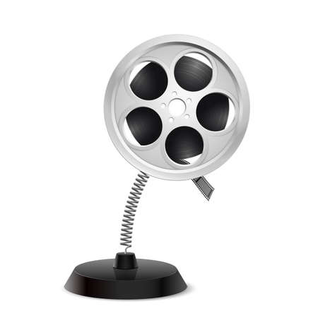 glister: Table souvenir in form of film reel on spring