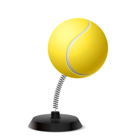 glister: Table souvenir in form of ball for tennis on spring