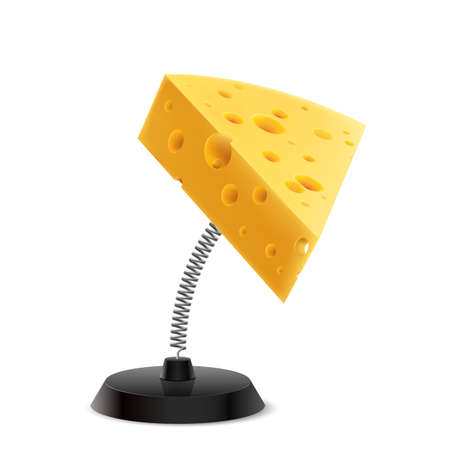 knickknack: Table souvenir in form of cheese piece on spring
