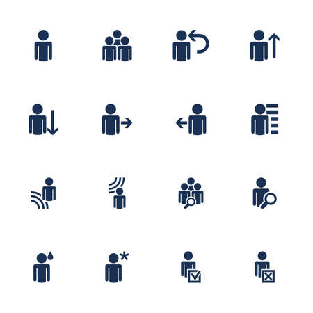 human figures: Set of icons with human figures in flat style Illustration