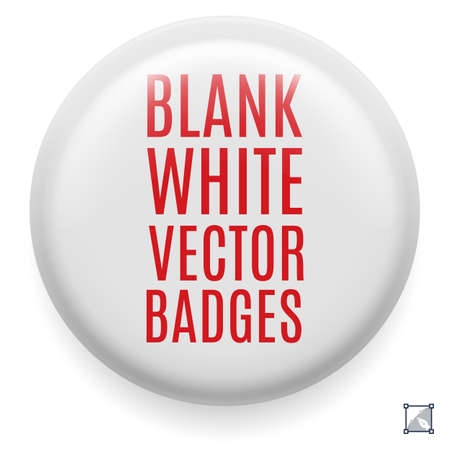plain button: White badge template for your design. Front side