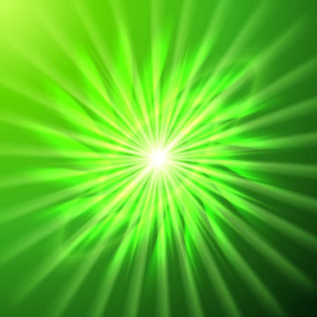 bright space: Bright space star in emerald and green hues