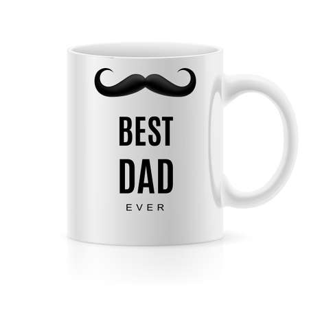 best dad: White mug with text a  best dad Illustration