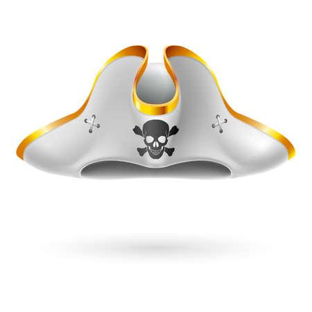 Feluca bianca con il simbolo del pirata del cranio e le ossa incrociate Archivio Fotografico - 35709624