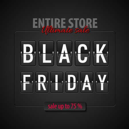 ultimate: Black Friday discounts, increasing consumer growth. Entire store and ultimate sale Illustration
