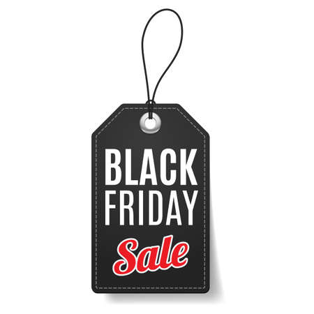 figuration: Label Black Friday discounts, increasing consumer growth. Illustration