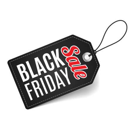 increasing: Label on thread. Black Friday discounts, increasing consumer growth. Illustration
