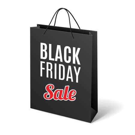 Black Friday discounts, increasing consumer growth. Black cardboard packet