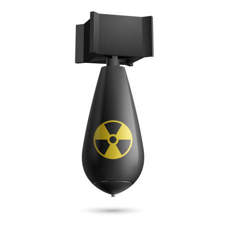 bombe atomique: Illustration d'une bombe atomique isolé sur un fond blanc