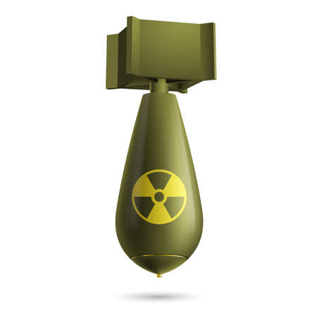 atomic bomb: Illustration of a atomic green bomb isolated on a white background