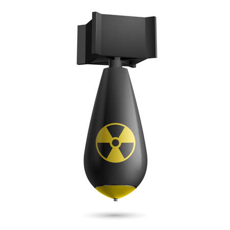 detonation: Illustration of a atomic black bomb isolated on a white background