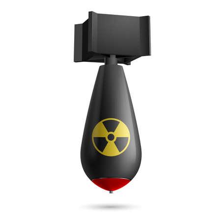 bombe atomique: Illustration de la bombe atomique, la bombe isol� sur un fond blanc
