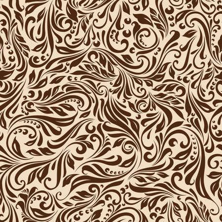 Illustrazione di seamless astratto beige motivo floreale vite Archivio Fotografico - 37075750