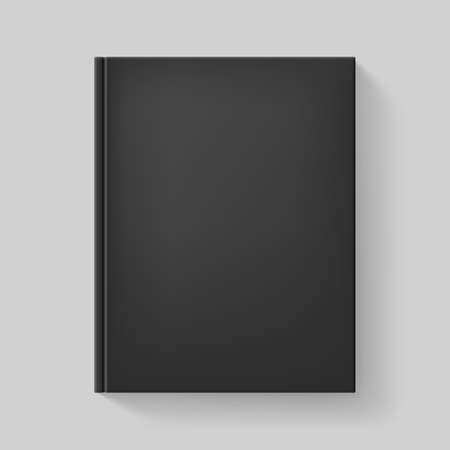 book cover: Black book. Illustration on gray background for design. Illustration