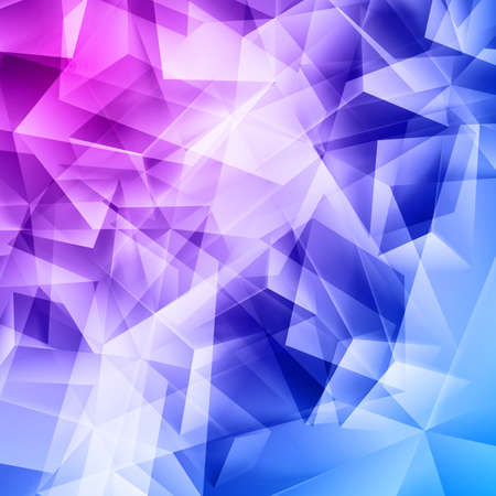 Iridescent blue purple and pink background seamless pattern of polygonal