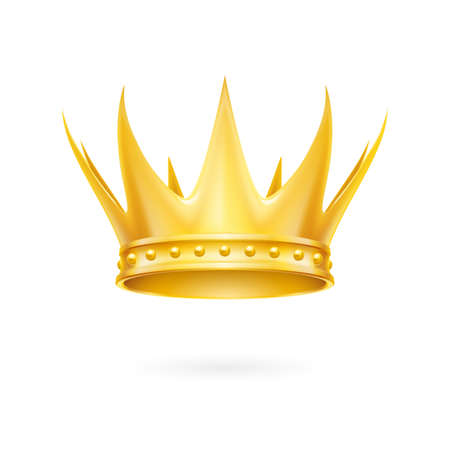 Golden crown isolated on the white background