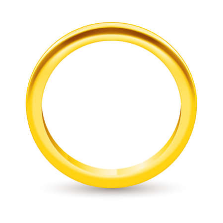 golden ring: Illustration golden ring  isolated on a white