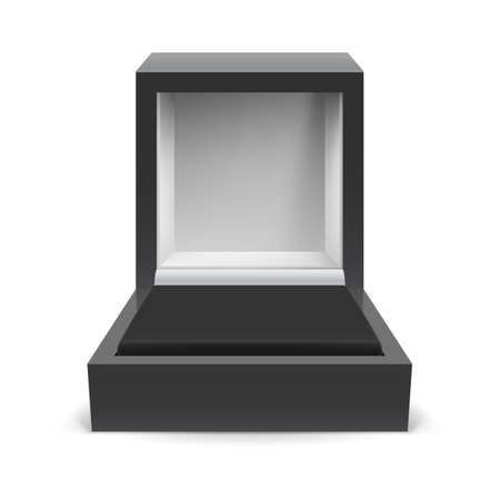 Open box for jewelry on a white background