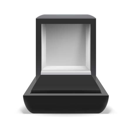 jewel box: Open box for jewelry on  white background