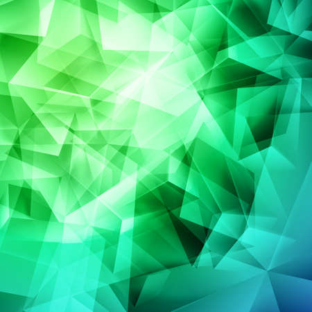 iridescent: Iridescent green background seamless pattern of polygonal