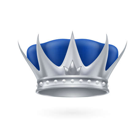 Royal silver crown on a white background Vector