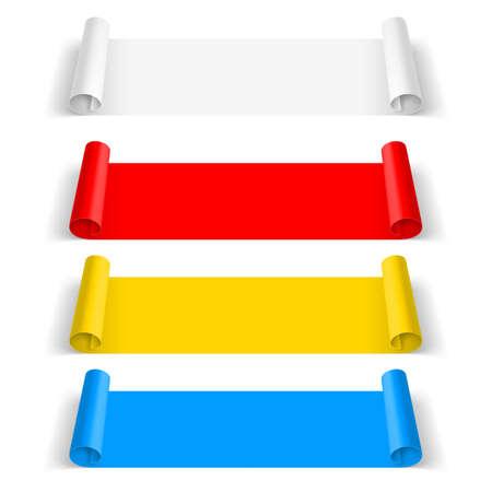 color paper: Conjunto de etiqueta de papel de color aislado en el fondo