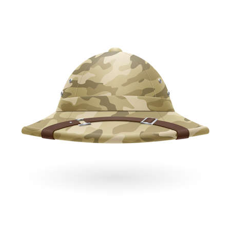 colonizer: Cork camouflage hat isolated on white background