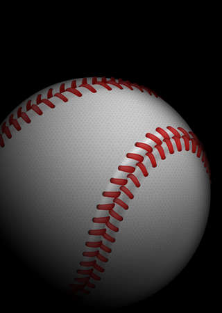 High detailed baseball. Illustration on black background