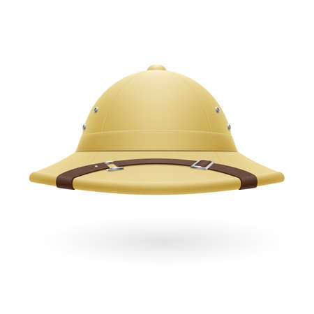 pith: Pith helmet isolated on a white background