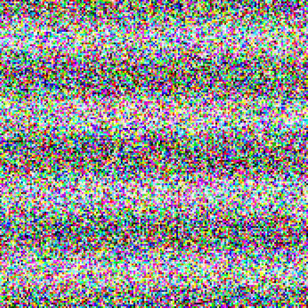 interference: Grey noise on the TV screen. dark and color pixels and striped Illustration