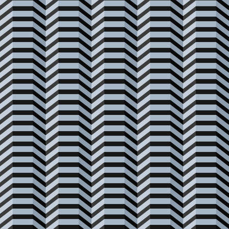 Abstract seamless straight pattern with wave broken black lines