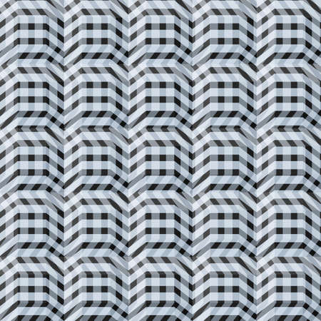 Abstract seamless straight pattern with wave broken lines for design
