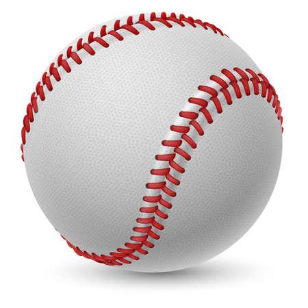 設計のための白い背景の上の現実的な野球
