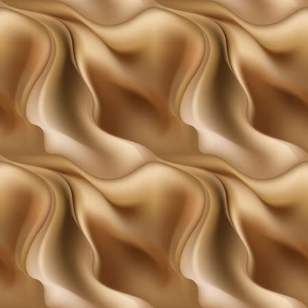 varied: Varied abstract brown seamless pattern blurred background with wave Illustration
