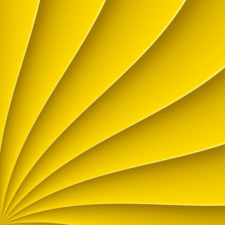 yellow line: Yellow background in form far with bending line Illustration