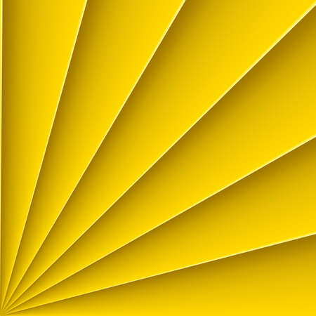 far: Yellow background  form far with bending line Illustration