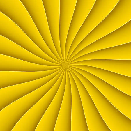yellow line: Yellow background in abstract form fan with bending line