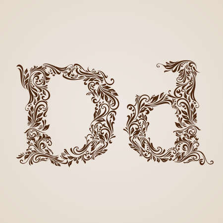 upper: Handsomely decorated letter d in upper and lower case.