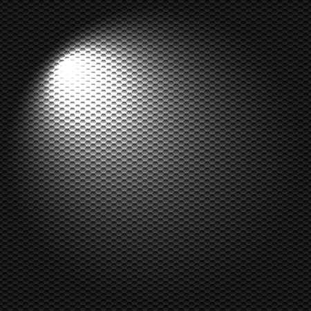 black light: Light flashlight on the black textured cell background