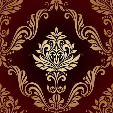 pattern vintage: Floral seamless vintage pattern background luxury style